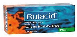 Rutacid 20 tablet cena od 60 Kč