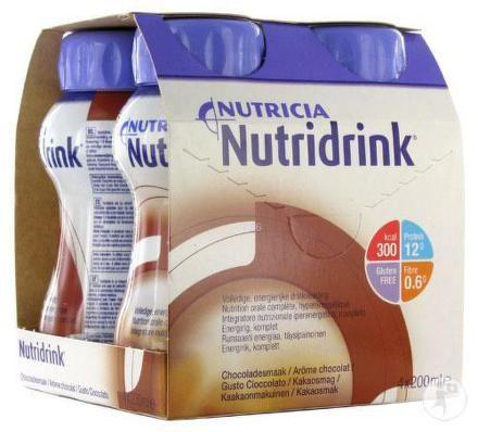 Nutridrink s příchutí čokoládovou 4x200 ml cena od 170 Kč