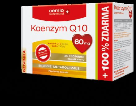 Koenzym Q10 60 mg s biotinem 60 tablet cena od 168 Kč