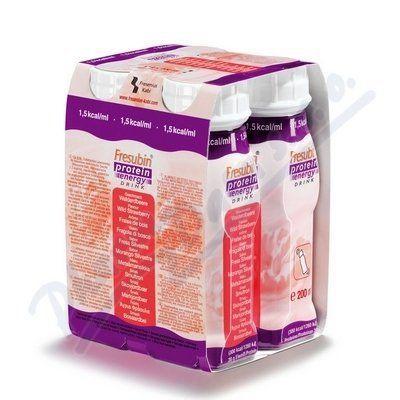 Fresubin protein energy jahoda 4x200 ml cena od 148 Kč