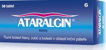 Ataralgin 50 tablet cena od 141 Kč