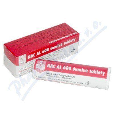 NAC AL 600 10 šumivých tablet cena od 58 Kč