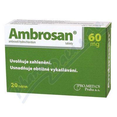 Ambrosan 60 mg 20 tablet cena od 89 Kč