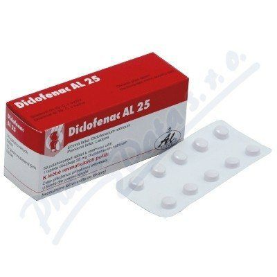 Diclofenac AL 25 tablet cena od 100 Kč
