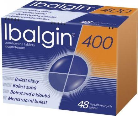 Ibalgin 400 mg 48 tablet cena od 55 Kč