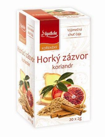Apotheke Horký zázvor a koriandr čaj 20x2 g cena od 42 Kč