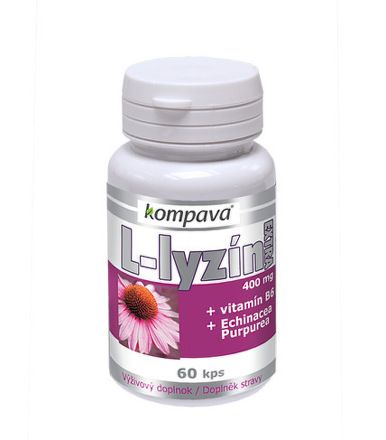 KOMPAVA L-lyzín extra 400 mg 60 tobolek
