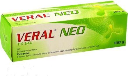 Veral NEO 1% gel II 100 g cena od 118 Kč