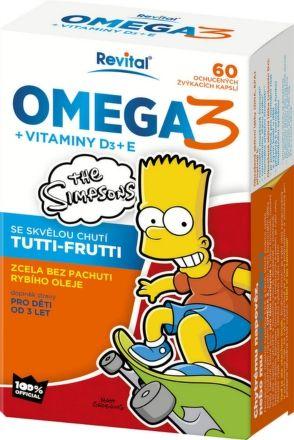VITAR The Simpsons Omega 3+vitaminy D a E 60 kapslí