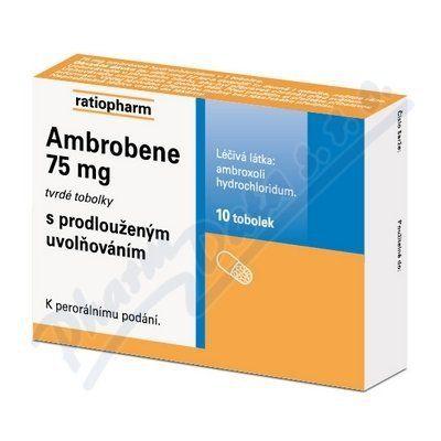 Ambrobene 75 mg 10 tobolek cena od 57 Kč