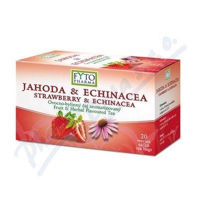 FYTOPHARMA Ovocno-bylinný čaj Jahoda +Echinacea 20x2 g cena od 61 Kč