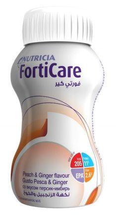 NUTRICIA FortiCare Broskev a zázvor 4x125 ml cena od 159 Kč