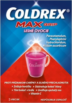 Coldrex Maxgrip Lesni ovoce 5 sáčků cena od 69 Kč