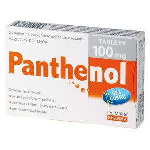 Panthenol 100 mg 24 tablet