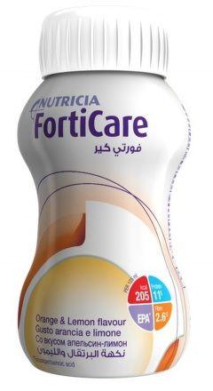 NUTRICIA FortiCare Pomeranč a citrón 4x125 ml cena od 156 Kč