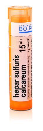 Hepar Sulfuris Calcareum CH15 granule 4 g cena od 68 Kč