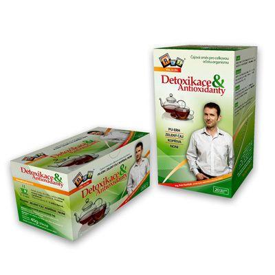 REJ Čajová směs Detoxikace + Antioxidanty 20x2 g