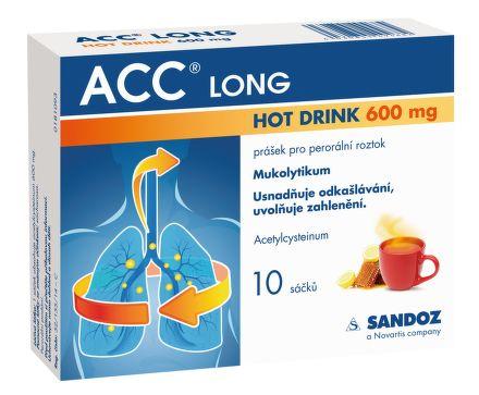 ACC LONG Hot drink 600 mg 10 sáčků cena od 110 Kč