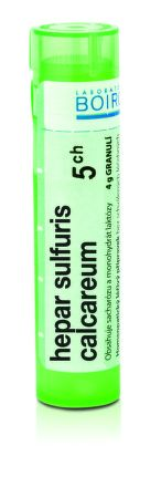 Hepar Sulfuris Calcareum CH5 granule 4 g cena od 77 Kč