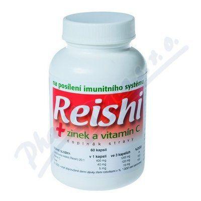Naturvita Reishi + Zinek + Vitamín C 60 kapslí