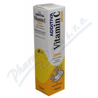 Additiva Vitamin C Zitrone 20 tablet cena od 72 Kč