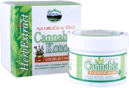 Vivaco Herb Extract Cannabis pleťový krém 75 ml