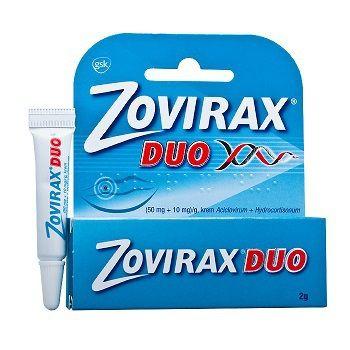 Zovirax Duo 50 mg/g+10 mg/g krém 1x2 g cena od 179 Kč