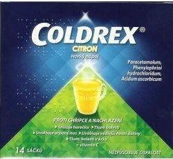 Coldrex horký nápoj Citron 14 sáčků cena od 127 Kč