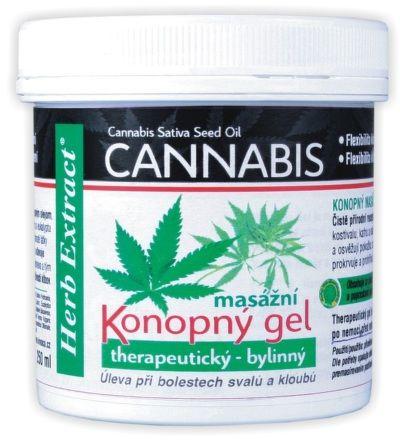 VIVACO Herb Extract Cannabis Konopný masážní gel 250 ml