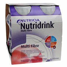 Nutridrink Multi Fibre jahodový 4x200 ml
