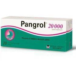 Pangrol 20000 II 20 tablet cena od 91 Kč
