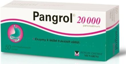 Pangrol 20000 II 50 tablet cena od 187 Kč