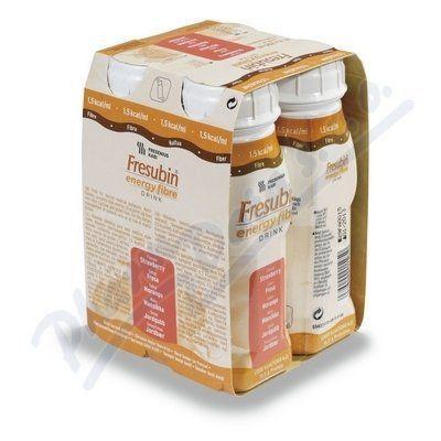 Fresubin energy fibre jahoda 4x200 ml cena od 139 Kč