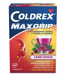 Coldrex Maxgrip Lesni ovoce 10 sáčků cena od 139 Kč