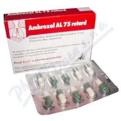 Ambroxol AL 75 Retard 20x75 mg cena od 80 Kč