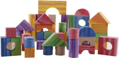 Alltoys Pěnové kostky dřevěný design 100 ks cena od 399 Kč