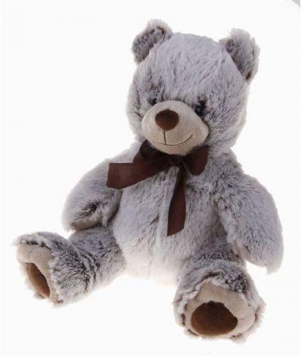 Alltoys Medvěd šedý s mašlí cena od 289 Kč