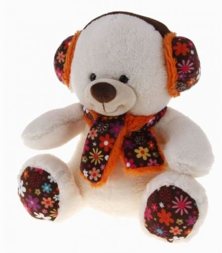 Alltoys Medvídek s ušankou 29 cm cena od 116 Kč