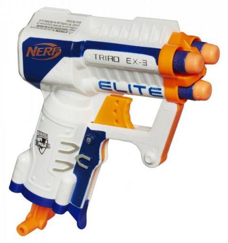 Hasbro Nerf Elite pistole s třemi hlavněmi cena od 190 Kč