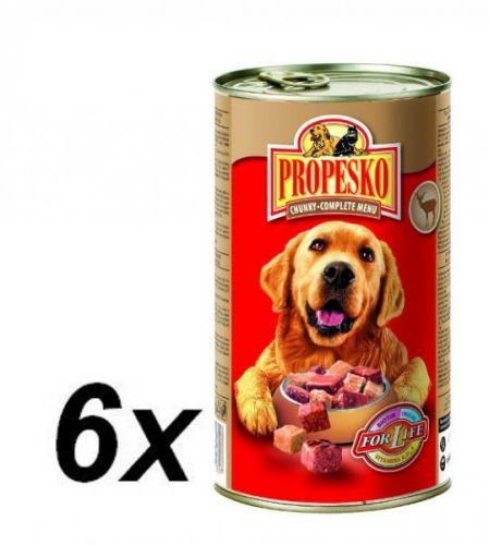 Propesko kousky pes zvěřina+drůbeží 6 x 1240 g