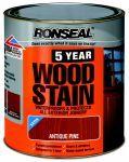 Ronseal 5Year Woodstain silnovrstvý lazurovací lak tmavý dub 0,25 L