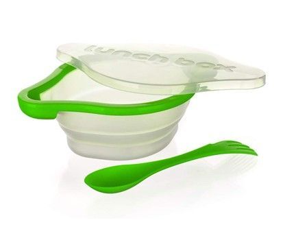 BANQUET Culinaria green silikonová skládací miska s příborem 21,8 cm  cena od 195 Kč