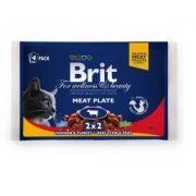 Brit PREMIUM CAT POUCHES MEAT PLATE 4x100 g