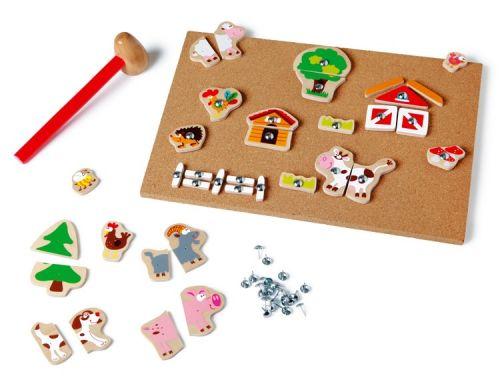 Scratch Zatloukací hračka Farma cena od 509 Kč