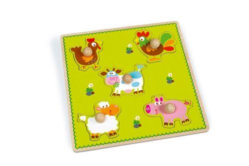 Scratch Vkládací puzzle Farma cena od 0 Kč