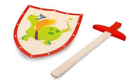 Scratch Dřevěný meč a štít Zelený drak cena od 525 Kč