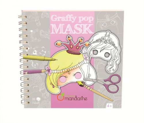 Avenue Mandarine Karnevalové masky k vymalování pro holky cena od 298 Kč