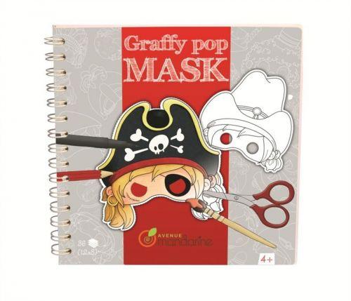 Avenue Mandarine Karnevalové masky k vymalování pro kluky
