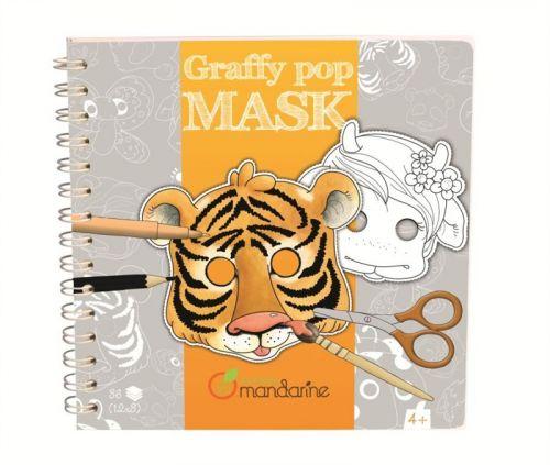 Avenue Mandarine Karnevalové masky k vymalování Zvířátka cena od 298 Kč