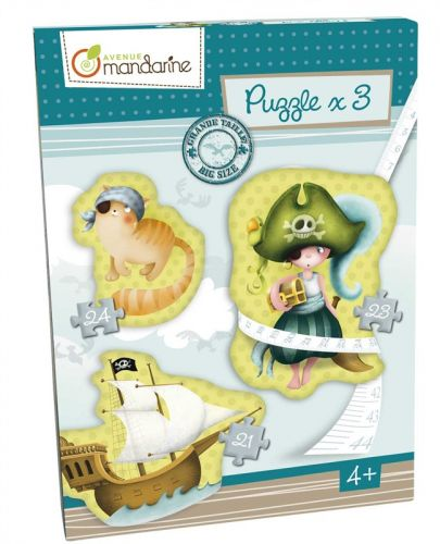Avenue Mandarine Velké puzzle 3v1 Piráti cena od 525 Kč